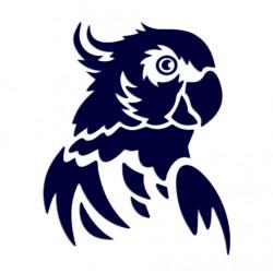 Samolepka na auto-papoušek kakadu