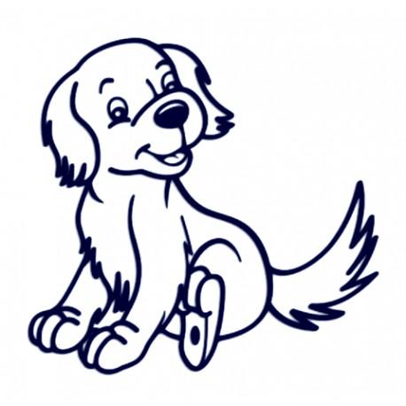 Samolepka na auto-pes v autě-hafík 02