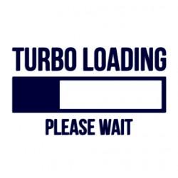 Tuning samolepka na auto s nápisem Turbo loading