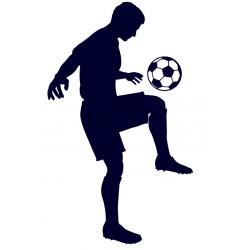 Fotbal- samolepka na auto- fotbalista