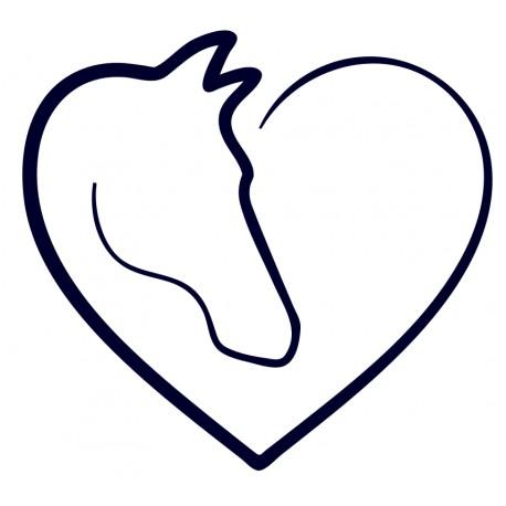 Samolepka na auto- kůň v srdci 01