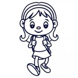 Samolepka na auto- holka školačka