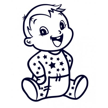 Samolepka na auto - kluk mimi