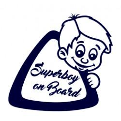 Samolepka na auto - Superboy on Board