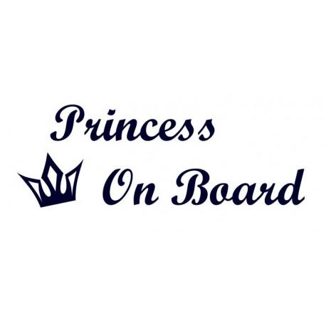 Samolepka na auto- Princess On Board 01