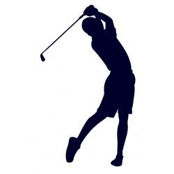 Samolepka na auto s motivem golfu- golfista 05