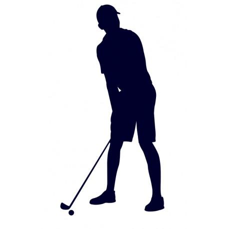 Samolepka na auto s motivem golfu- golfista 07