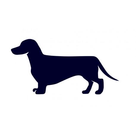 Samolepka na auto-pes v autě - jezevčík