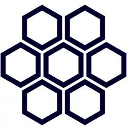 Samolepka na auto-včelí plástev+ vlastní text