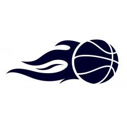 Samolepka na auto - basketbal- basketbalový míč