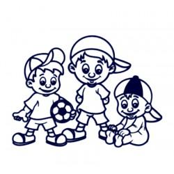 Samolepka na auto se jmény dětí- sourozenci- tři kluci