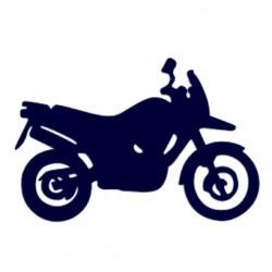 Samolepka na auto-motorka- motocykl