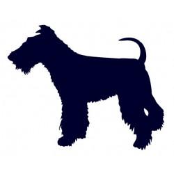 Foxteriér- Samolepka na auto - pes v autě