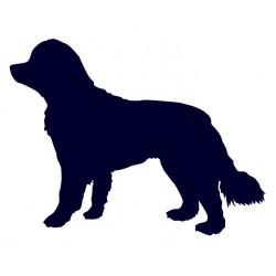 Novofundlandský pes- Samolepka na auto- pes v autě