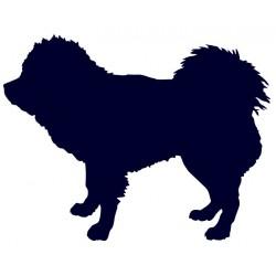 Tibetská doga- Samolepka na auto- pes v autě