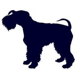 Kerry blue teriér- Samolepka na auto - pes v autě