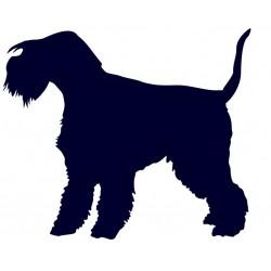Lakeland teriér- Samolepka na auto - pes v autě