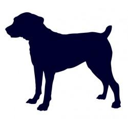 Boerboel- Samolepka na auto - pes v autě