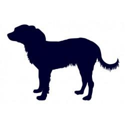 Ruský toy- Samolepka na auto - pes v autě