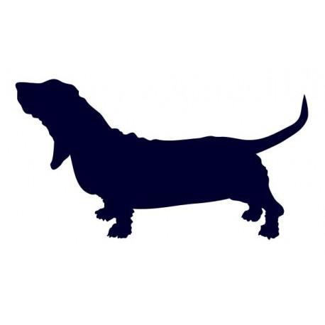 Baset- Samolepka na auto - pes v autě