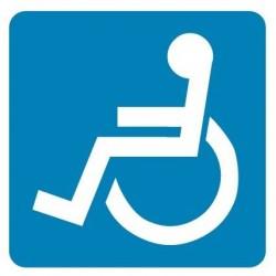 Plastová tabulka- vozíčkář, invalida