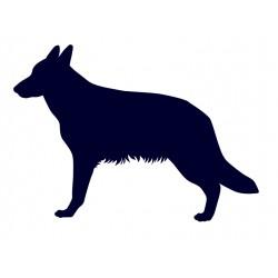 Německý ovčák- Samolepka na auto- pes v autě
