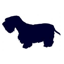 Sealyham teriér- Samolepka na auto - pes v autě