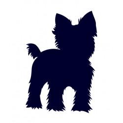 Jorkšírský teriér- Jorkšír- Samolepka na auto - pes v autě