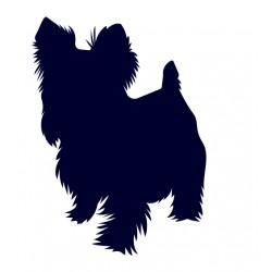 Jorkšír- Jorkšírský teriér- Samolepka na auto - pes v autě