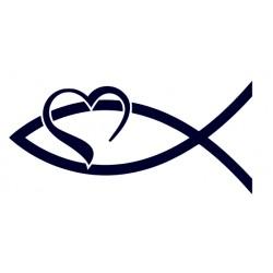 Ryba na auto-rybička- samolepka na auto