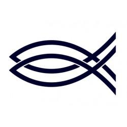 Samolepka na auto-rybička- křesťanský symbol- rybičky