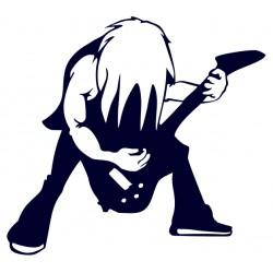 Rocker s kytarou- samolepka na auto