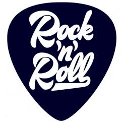 Rock 'n' Roll- samolepka na auto- kytarové trsátko