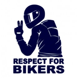Samolepka na auto- Respect for Bikers