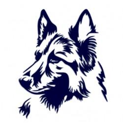 Německý ovčák- Samolepka na auto