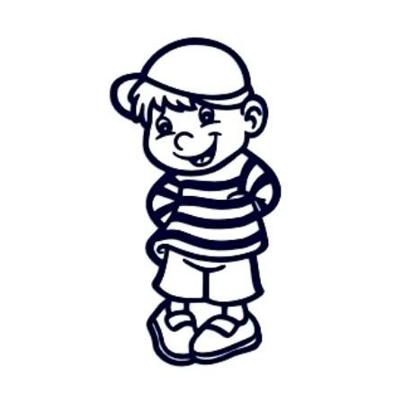 Samolepka na auto se jménem dítěte- kluk 01