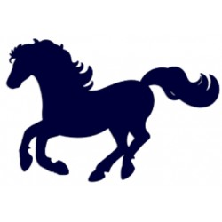 Samolepka na auto-kůň v pohybu