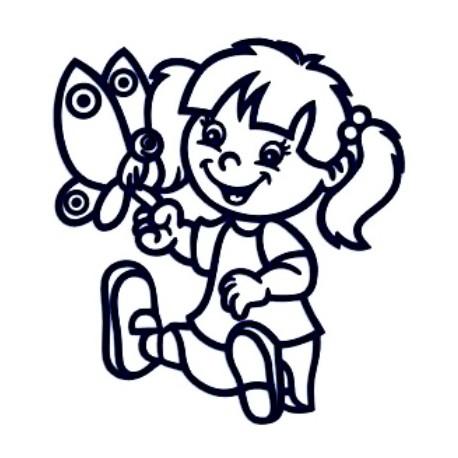 Samolepka na auto se jménem dítěte- holka 02