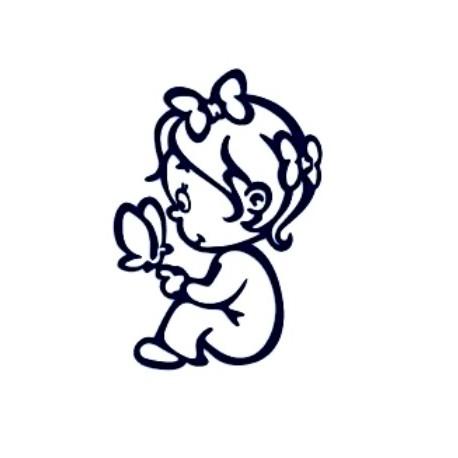 Samolepka na auto se jménem dítěte- holka 04