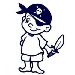 Samolepka na auto se jménem dítěte- kluk pirát