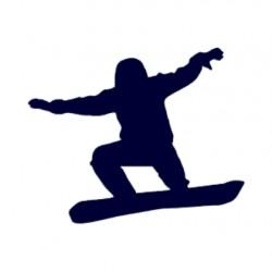 Samolepka na auto- silueta snowborďáka v letu