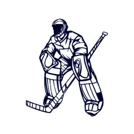 Samolepka na auto hokejový brankář