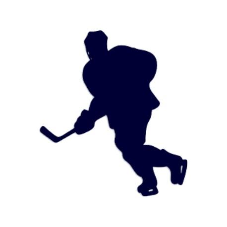 Samolepka na auto- silueta hokejisty 01