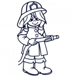 Samolepka na auto se jménem dítěte- hasička