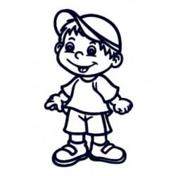 Samolepka na auto se jménem dítěte- kluk 02