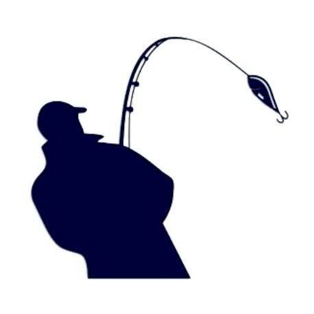Samolepka na auto-rybář