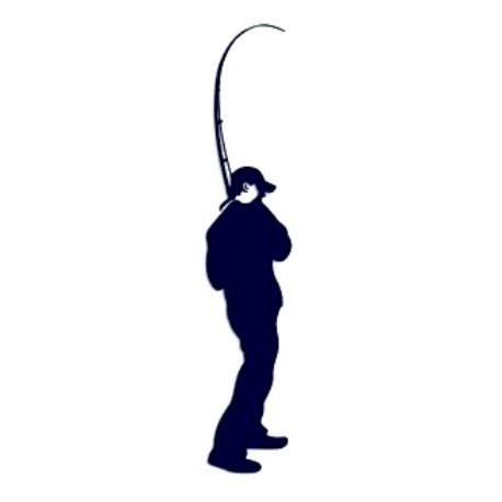 Samolepka na auto-rybář 02