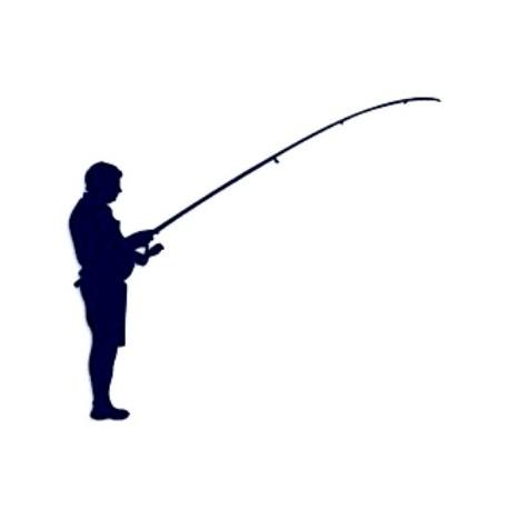Samolepka na auto-rybář 04