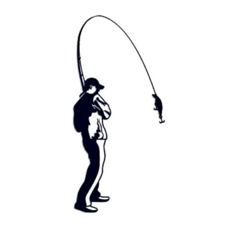 Samolepka na auto-rybář 05