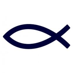 Ryba na auto- samolepka- křesťanský symbol